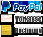 Sie können die Transportgeräte per Vorkasse, auf Rechnung und PayPal kaufen.